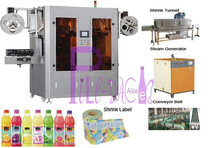 400BPM Stainless Steel Double Head Label Machine For Bottles 0.4-0.7mpa